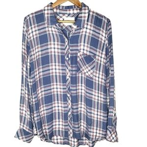 Rails Long Sleeve Hunter Flannel Button Down